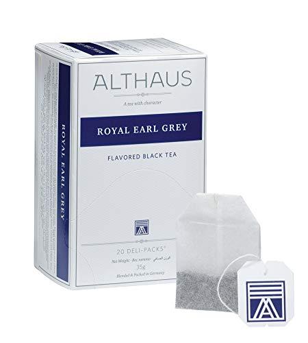 Althaus Deli Pack Royal Earl Grey 20 x 1,75g ⋅ Schwarzer Tee im klassischen Teeaufgussbeutel