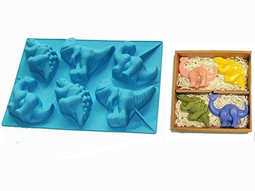 FantasyDay® Premium Silikon Backform/Muffinform für Muffins, Cupcakes, Kuchen, Pudding, Eiswürfel und Gelee - Dinosaurier Brotbackform für eindrucksvolle Kreationen, hochwertige Silikon-Kuchenform