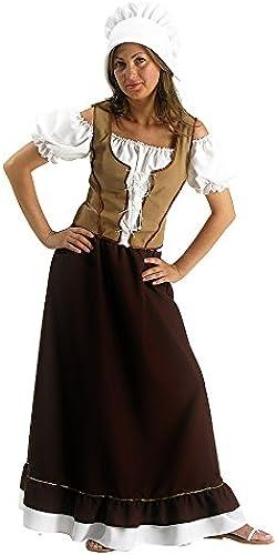 Carnival Toys 80030 - Mittelalterliche Magd, Damenkostüm mit Kopfbedeckung, L