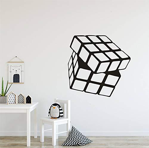 Rubik's cube Vinyle Autocollant Mural Enfants Salle De Jeux Décoration Enfants Connaissance Éducation Outil Stickers Muraux Art Mural 42x41 cm