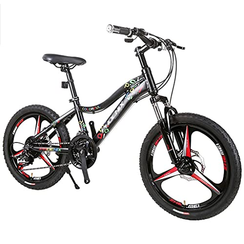 Bicicleta para niños Bicicleta de Montaña de 21 Velocidades Estructura de Acero Al Carbono de Alta Resistencia Bicicleta de Montaña de Ciudad con Suspensión Total, Bicicletas MTB con Freno de Disco Do