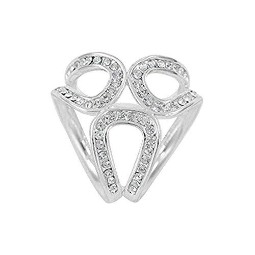 Seawood Fashion Rhinestone Garland Hoop Twine Brooch Silk Scarf Clip Buckle Holder Jewelry Gift