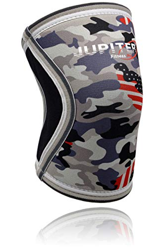 Elbow Sleeves (1 Pair) Support & Compression for Weightlifting, Powerlifting, Crossfit,Tennis, Basketball - 5mm Neoprene Sleeve Perfect for Both Men & Women (2X-Large, Grey Camo+)