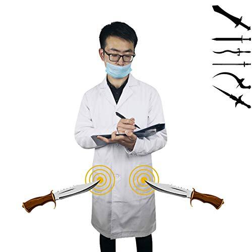 Prevenzione della Pugnalata del Medico Infermiere Camice Bianco da Laboratorio, Resistente al Taglio Manica Lunga Cappotto Bianco, Protezione Collo 0.95 kg Leggera E Morbida Abiti da Lavoro