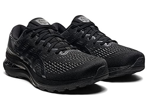 ASICS Men's Gel-Kayano 28 Running Shoes, 10, Black/Graphite Grey