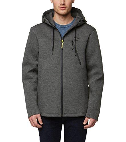 Bench Herren Bonded Zip Hoodie Sweatshirt, Grau (Anthracite Marl Ma1017), Medium (Herstellergröße: M)