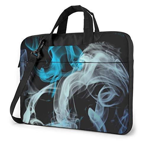 Blue Grey Smo-ke Shockproof Briefcase Sleeve Laptop Shoulder Bag with Strap