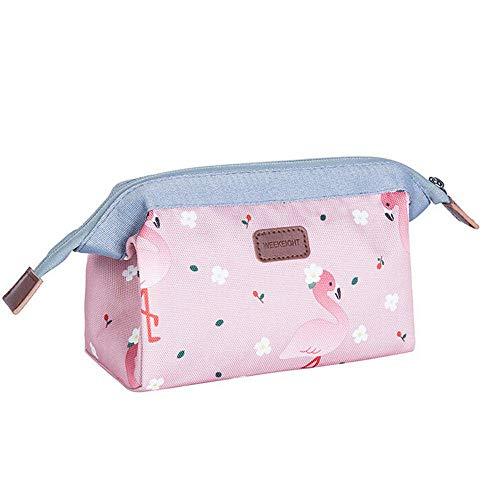 Cosmetic Bag Multifunction PurseToiletry Case Pouch Organizer Pouch Zip Storage Makeup Bag Women-Pink_18 * 13 * 9_cm