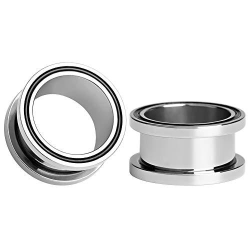 KUBOOZ Piercing para dilatador de Oreja de Acero Inoxidable, de 6mm a 16mm