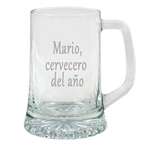Calledelregalo Regalo Personalizado: Jarra de Cerveza Personalizada en Estuche (Jarra grabada con Texto)