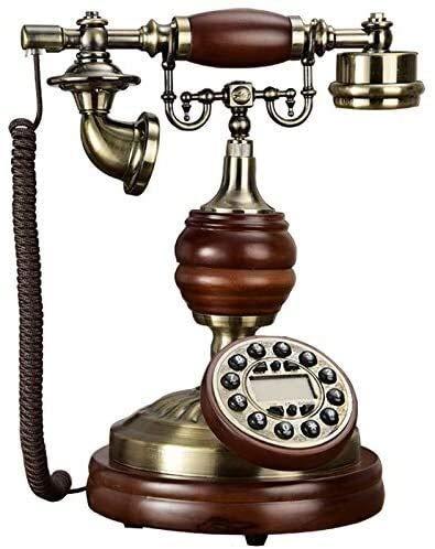 DHFDHD Teléfono Antiguo Teléfono Fijo Retro teléfono de Escritorio Telegrama-Display Dual-Systemwired-Phone Home con entrante Europea (Color : C)