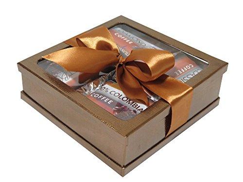 Gourmet Coffee Gift Set - Coffee Gift Basket - Coffee Lovers Gifts - Coffee Gift Set - Best Coffee Gift (Gold)