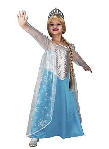 chiber - Disfraz de Reina del Hielo para Nia (6-8 aos)