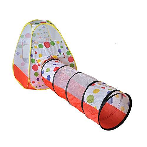 XYLUCKY Los Niños Juegan Túnel De Rastreo De Tiendas, Tienda De Campaña Emergente Duradera, Fácil De Configurar, para Niños, Niñas, Bebés, Niños Pequeños Y Mascotas,A