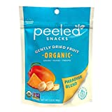 Peeled Snacks Organic Dried Fruit, Paradise Blend with Dried Mango, Pineapple and Banana, 2.8 oz. – Healthy, Vegan Snacks for On-the-Go, Lunch and More