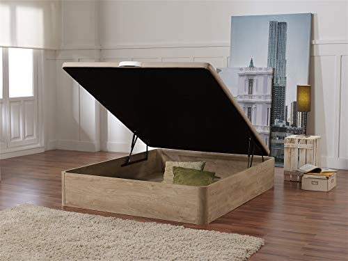 ECCOX - Canapé de Madera Abatible 90 x 190 Gran Capacidad de Almacenaje, Base Tapizada 3D - Color Cambrian - Montaje Incluido