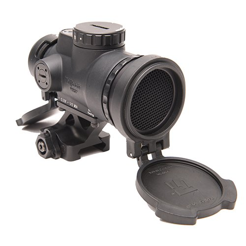 Trijicon MRO-C-2200019 1x25mm Patrol Riflescope with Miniature Rifle Optic (Mro), 2.0 MOA Adjustable Red Dot Reticle with Full Co-Witness Quick Release Mount, Blk