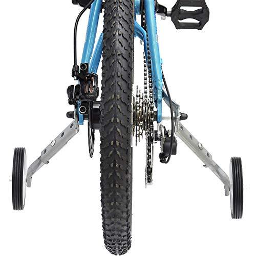 Justdolife 2 Sätze Fahrrad Stützrad Heavy Duty Fahrradstabilisator für 18/20 / 24in Fahrrad