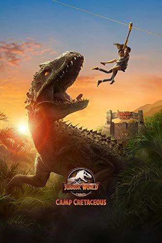 ZPDWT Puzzles 1000 Piezas Adultos Rompecabezas-Jurassic World: Campamento Cretácico-Educativo Intelectual Descomprimiendo Juguete Divertido Juego Familiar para Niños Adultos 75 * 50Cm