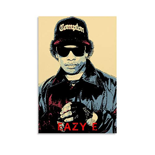 XIAOBAO Eazy E Canvas Art Poster and Wall Art Picture Print Modern Family Bedroom Decor Posters 12x18inch(30x45cm)