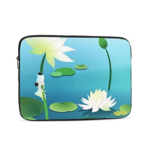 Frogs On Lotus 13 Inch Laptop Sleeve Bag Compatible with 13.3' Old MacBook Air (A1466 A1369) Notebook Computer Protective Case Cover