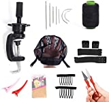 DIY Wig Tool 9pcs Wig Making Starter Kit For Pro and Beginner Including C Clamp Stand,C sewing kit Wig Cap Adjustable Elastic Band (wig kit)