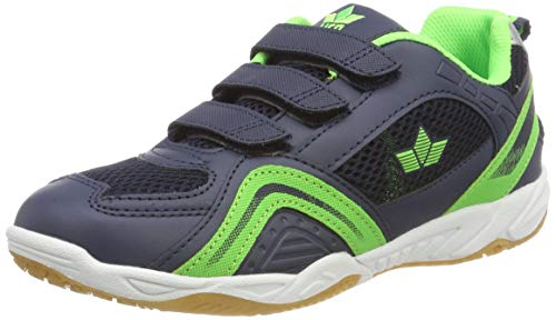 Lico Enjoy V Unisex Multisport Indoor Schuhe, Marine/ Lemon, 34 EU