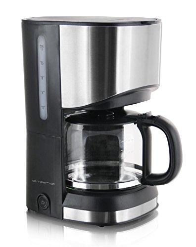 Emerio CME-111063 Filter Kaffeemaschine, 1.2 liters, Edelstahl, Schwarz