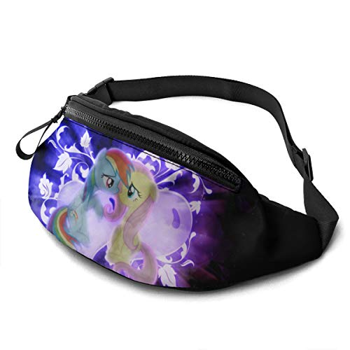 Cartoon Painting Art My Rainbow Pony Waist Pack Bag Casual Fanny Pack for Men & Women With Adjustable Belt Sports Bag Running Bag Keep Fit With Exercise Jogging, Hiking Chest Pack Shoulder Bag