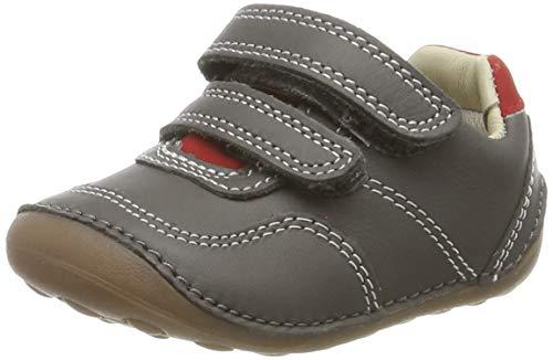 Clarks Mädchen Tiny Dusk T Sneaker, Grau (Grey Leather Grey Leather), 19 EU