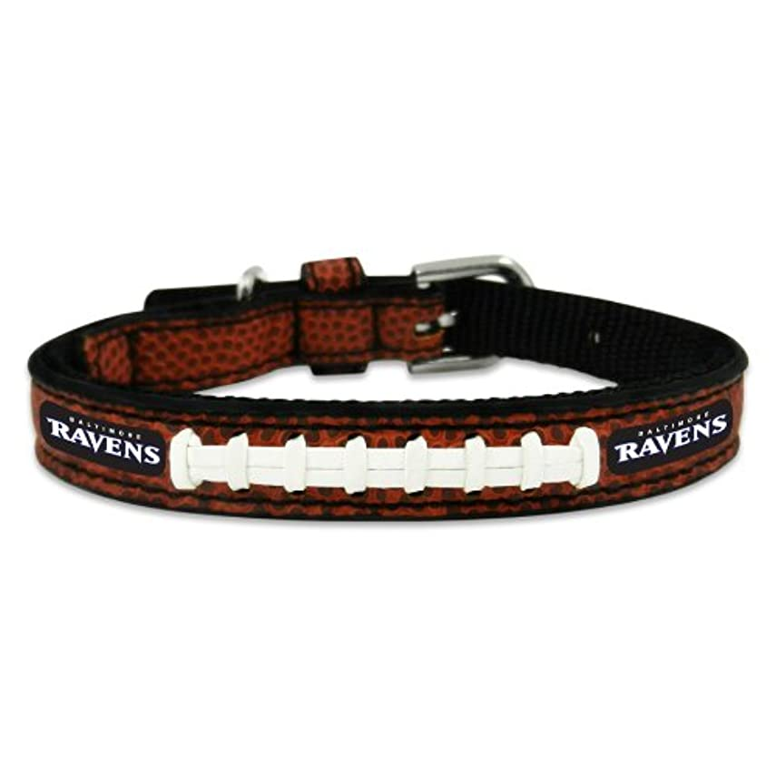 Baltimore Ravens Classic Leather Toy Football Collar