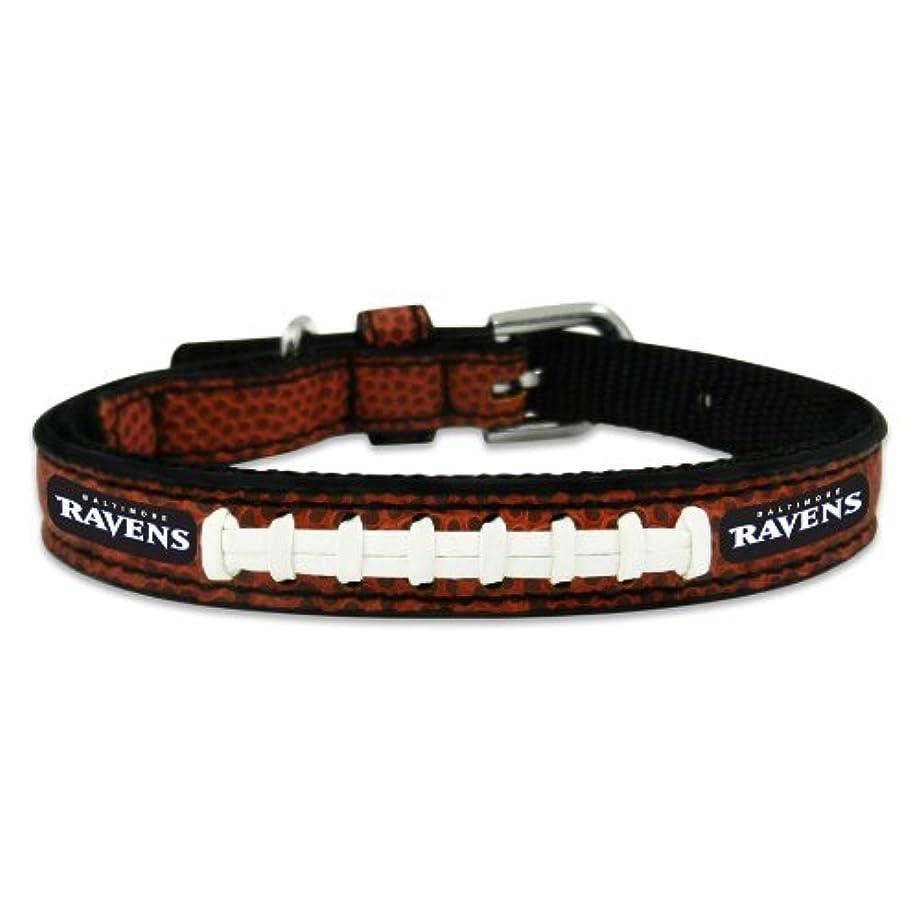 ディスパッチ足枷セメントBaltimore Ravens Classic Leather Toy Football Collar