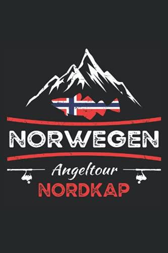 Norwegen Nordkap: Fangbuch für Angler zum Hochseeangeln und die Angeltour in die norwegischen Fjorde - Fang-Templates zum Ausfüllen - Norwegen Angeln Buch für Angelreisen