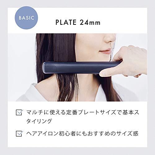 SALONIAサロニアストレートヘアアイロングレー24mmアイロン家電美容美容家電ヘアケアMAX230℃プロ仕様SL-004SGR