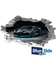 Bugatti Veyron Sport Auto 3D gat in de muur B effect muursticker Art Decal muurschildering
