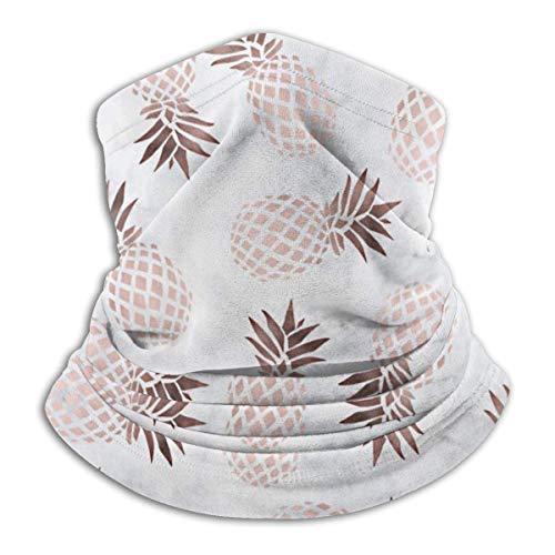 DFGHG Camping Wanderbekleidung Männer Hüte Kopfbedeckung Multifunktionale Kopfbedeckung Yesstd Elegant Modern White Marble Rose Gold Pineapple Unisex Microfiber Neck Warmer Headwear Face Scarf Mask Fo