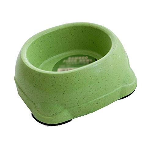 LSX - Pet kom hondenap, gezonde antislip voederapp, bamboevezel-hondenmand voor het milieu, hondenmand voor huisdieren, kleine en middelgrote hondenbak hondenmand hondenmand groen