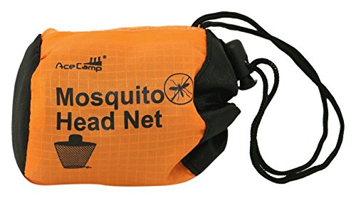 Acecamp 3731 moustiquaire de tête avec sac de transport pratique