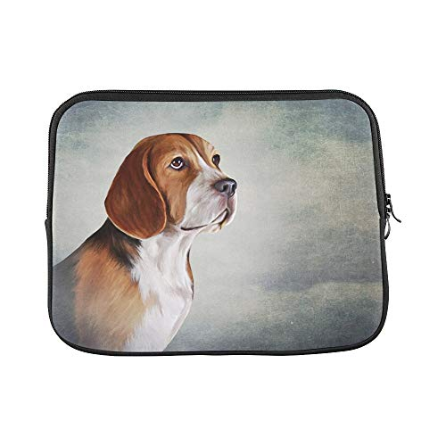 Design Custom Drawing Dog Beagle Portrait Oil Painting Sleeve Soft Laptop Case Bag Pouch Skin for Air 11'(2 Sides)