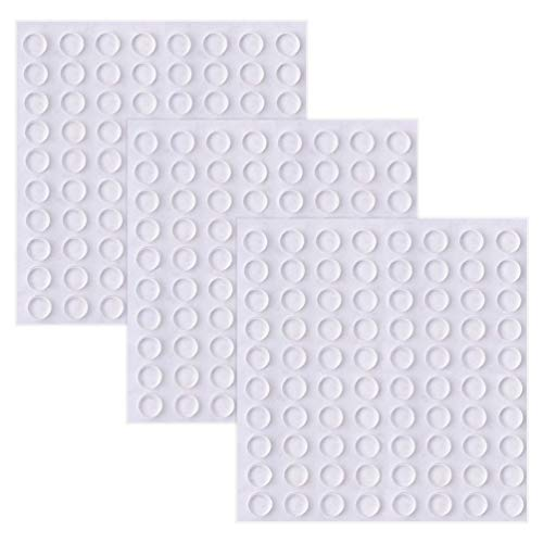 Rubber Bumpers Self Adhesive Pads: Cabinet Bumpers, Glass Table Top Bumpers and Rubber Feet for Small Electronic Devices, Cutting Boards, Drawers, Picture Frames, Kitchen Cabinets, 192 Pack