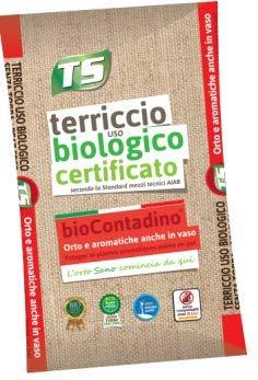 TERRICCIO BIOLOGICO CERTIFICATO PER ORTAGGI E AROMATICHE (80 LT)