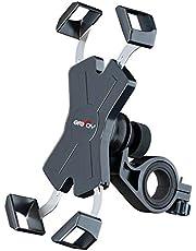 Grefay Fahrrad Handyhalterung, Edelstahl Motorrad Fahrrad Lenker Handy Halterung Mit 360 Drehen für 4,5-7,0 Zoll Smartphone