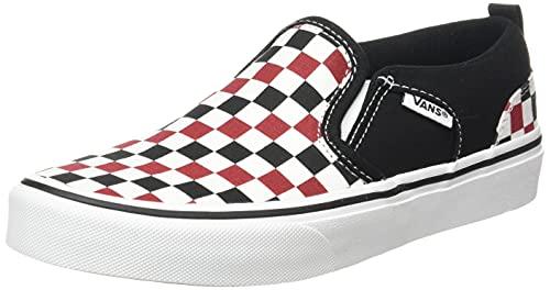 Vans Asher, Zapatillas, Tablero de ajedrez, Color Blanco, 39 EU