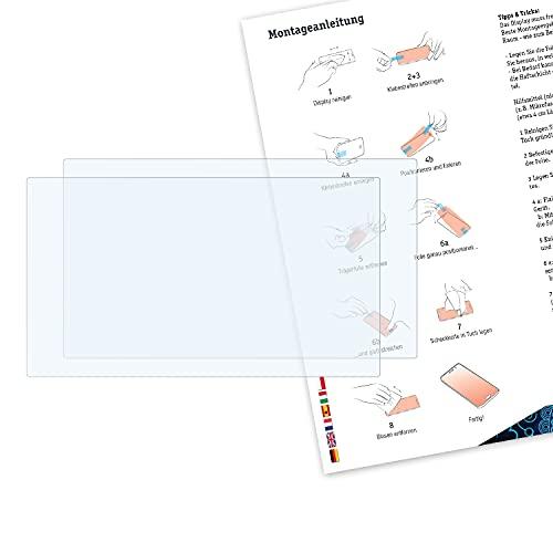 Bruni Schutzfolie kompatibel mit Panasonic HC-X1000 Folie, glasklare Displayschutzfolie (2X)