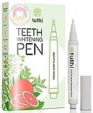 Tuthi Natural Teeth Whitening Pen - No-Sensitivity Dentist Formula - Tooth Whitener Travel Stick - Painless & Effective