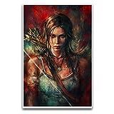 Tomb Raider Lara Croft Fanart Poster Dekorative Malerei