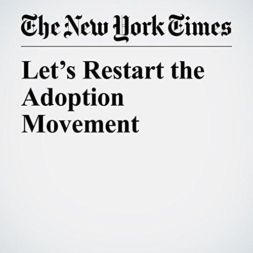 Let's Restart the Adoption Movement copertina