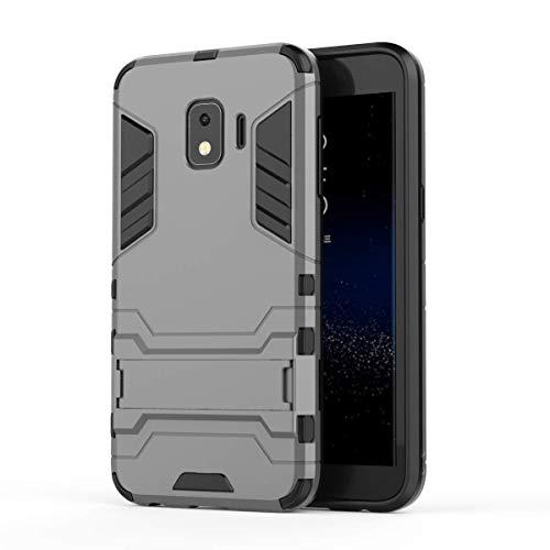 Samsung Galaxy J2 Core Funda, FoneExpert® Heavy Duty Silicona Slim híbrida con Soporte Cáscara de Cubierta Protectora de Doble Capa Funda Caso Cover para Samsung Galaxy J2 Core