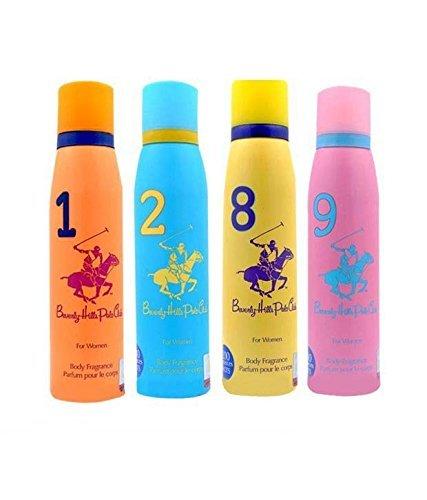 Beverly Hills Polo Club - Desodorante en spray para mujer, 4 x 150 ml (paquete de 4)
