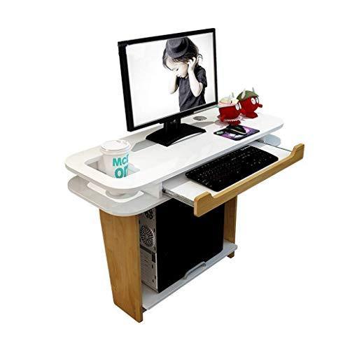 Mesa de centro Mesas laterales de escritorio del ordenador portátil integrado Wall escritorio de oficina Mesa de la estación de trabajo del ordenador con teclado ajustable push-pull mesa de la cocina